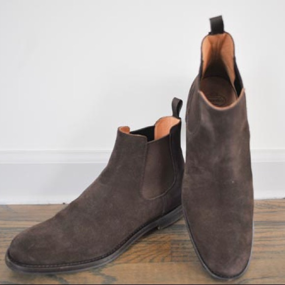 new arrival ff836 69592 Church's brown suede leather Chelsea boots